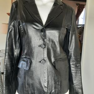 Rudsak leather blazer style